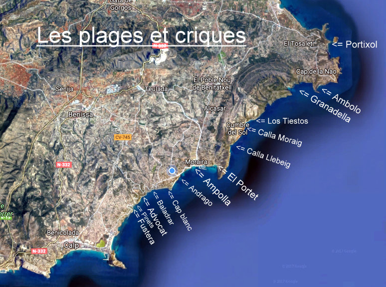carte plages